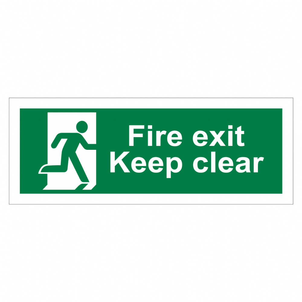Fire Exit Keep Clear Sign Emergency Exit Sign Bath
